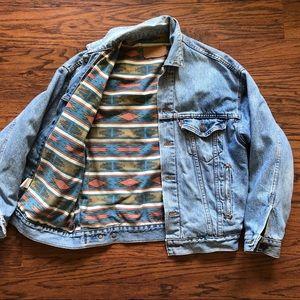 Levi's - Vintage Denim Jean Trucker Jacket Lined